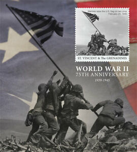St. Vincent 2017 - 75th Anniv. World War II Military WWII - Souvenir Sheet - MNH