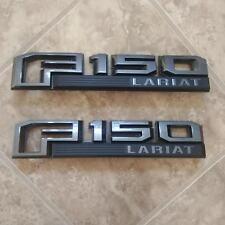 2015-18 Ford F150 LARIAT FENDER BADGES CUSTOM GLOSS magnetic & black PAIR