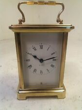 Vintage Brass Cased 8 day Carriage Clock ,