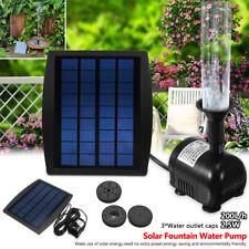 2.5W 200L/h Solar Powered Panel Fountain Pump Pool Water Garden Air Pump Outdoor