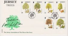 Unaddressed Jersey FDC First Day Cover 1997 Jersey Trees Set 10% off 5