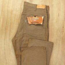 vtg DEADSTOCK nwt usa made LEVI'S 519 corduroy jeans 36 x 33 brown tan talon zip