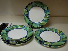 Grazia Deruta Italian Pottery Susan Eslick 6 Buffet Plates Leaves Signed