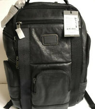 TUMI 09223389DO Hedrick Black Deluxe 100% Cowhide Leather Brief Pack Backpack