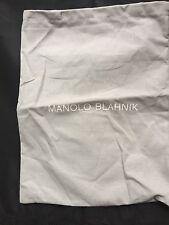 MANOLO BLAHNIK Grey  BAG  Shoes Clutch Wallet Purse Storage Travel 10 X13.5