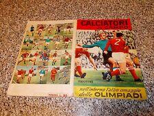 ALBUM CALCIATORI IN CAMPO LAMPO 1964 ORIGINALE COMPLETO(-11 FIGURINE) MB/OTTIMO