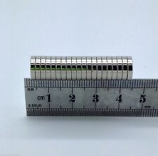 20 VERY SMALL SUPER STRONG DISC MAGNETS TOP N52 GRADE 10MM X 2MM FROM THE UK!!