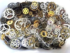 100g Pieces Lot Vintage Steampunk Wrist Watch Parts Gears Wheels Steam Punk Tool