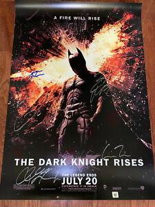 The Dark Knight Rises Movie Poster CAST SIGNED Premiere Batman Bane Tom Hardy