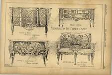 1902 French Empire Furniture Commodes Dubois Cafferi