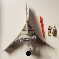 Star Wars Galoob Action Fleet T-16 Skyhopper W/ Luke And Biggs, Missile