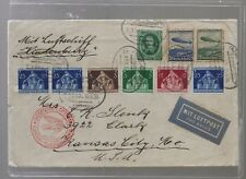 1936 Graf Zeppelin Cover Germany to USA