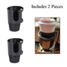 2 Pcs Black Center Console Cup Adapter Holders French Keeper for most Car Trucks