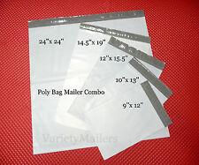 21 POLY BAG MAILING ENVELOPE VARIETY PACK  24X24 14.5X19 12X15.5 10x13  9x12