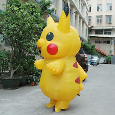Halloween Inflatable Pikachu Mascot Costume Cosplay Outfit Adult Fancy Dress Hot