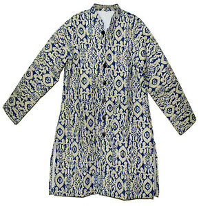 Indian Long Jacket Coat Quilted Cotton Winter Hippie Women Over Ethnic Retro Ehs
