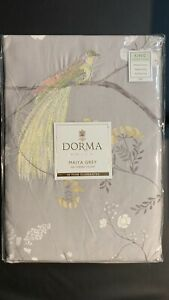 Dorma Maiya Embroidered 100% Cotton Grey Reversible KING Duvet Cover RRP £80