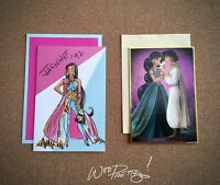 2018/2013 Disney Designer Collection JASMINE Art Note Card Premier & Fairytale
