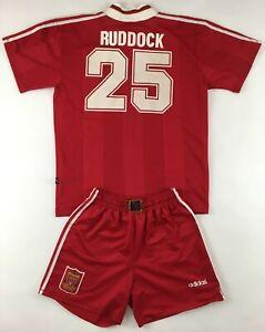 Liverpool FC 1995 1996 #25 Neil Ruddock Adidas shirt jersey shorts vintage 1990s