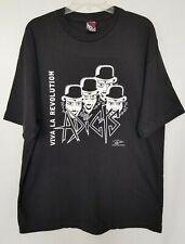 Chaser Viva La RevolutionT-Shirt Mens Black White Lettering Cotton Size XL