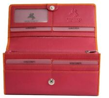 Visconti E4 Genuine Leather Wallet Purse Checkbook ID Card Coin Holder Lady Girl