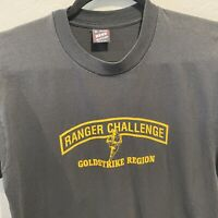 Vintage Ranger Challenge Goldstrike Region Black XL Short Sleeve Tshirt Military