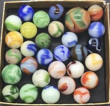 AKRO AGATE ALLEY CHRISTENSEN MARBLES VINTAGE SWIRL MARBLES MIXED MAKER