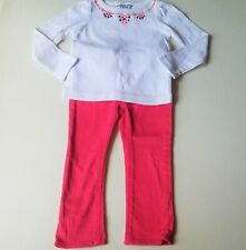 Girls BABY GAP pink skinny jeans HARTSTRINGS western embroidered t shirt 2T set