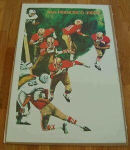 Vintage 1960's 1968 San Francisco 49ers 24 x 36 Poster In Original Packaging!