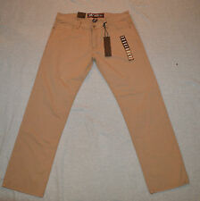 New JORDAN CRAIG Men 36x32 Slim Fit Khaki Casual Denim Jeans Pants Cotton JE2331