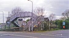 PHOTO  LINCOLNSHIRE  HABROUGH LEVEL-CROSSING AND RAILWAY STATION 1995