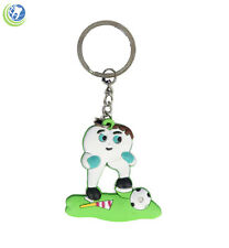 DENTAL MOLAR TOOTH SOCCER PLAYER KEYCHAIN GIFT SOUVENIR FOR DENTIST HYGIENIST