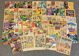 SIX INCH STACK 1940's-60's incomplete comics~DC,Dell,Fawcett,Harvey