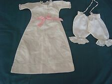 } VINTAGE CLOTHING FOR DOLL - DRESS & DIVIDED DRAWERS  [U]