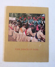 Folk Dances of India, Folio w/6 Tipped-In Plates, Department of Tourism, India