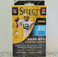 2020 Panini NFL Trading Cards - SELECT Hanger Box NEW - 4 Maroon Prizm Die Cuts!