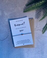 Will You Be My bridesmaid Wish Bracelet   bridesmaid Gift