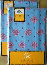 CHRISTIAN LACROIX Oxford Pillowcase Pair BLUE PINK 50x75cm New