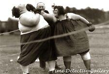 Big Women in a Boxing Match - Historic Photo Print