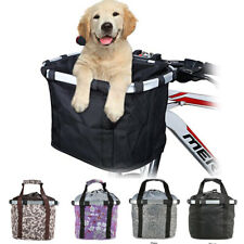 DIY Foldable Bicycle Oxford Fabric Basket Pet Carrier Detachable Travel Bag