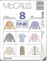 McCall's 8540 Misses' Unlined Jacket and Top - Sewing Pattern