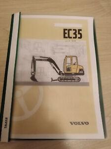 Volvo Minibagger Bedienungsanleitung EC35 Betriebsanleitung 2002 technischeDaten