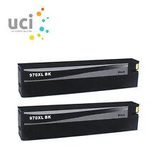 2 Black Ink Cartridge for HP 970XL 971XL Officejet Pro X451dw X551dw X576dw