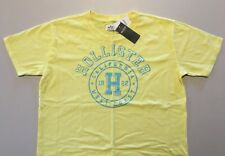 Abercrombie & Fitch HOLLISTER T-SHIRT Womens Yellow Logo Tee Top Size S NWT