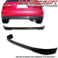 92-95 Honda Civic EG EG6 Hatchback HB Type-R TR CTR Style REAR Bumper PU Lip