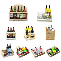 KE_ Magnetic Miniature Sticker Dollhouse Plastic Fruit Wine Glass Accessories