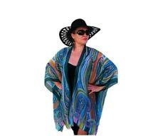 Silk Kimono Cover Up/ Pink Kimono Cardigan/ Plus Size Green Kimono Jacket