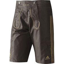 Adidas FC Bayern München Herren Shorts Badehose Leder Hose Bermuda braun 170 [S]