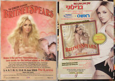 BRITNEY SPEARS   Circus 2x ISRAEL HEBREW MINI POSTER