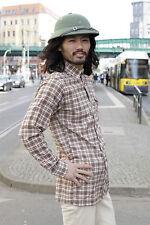 VEB Oberbekleidung Blankenburg Herren Hemd Shirt 70er True VINTAGE 70er braun